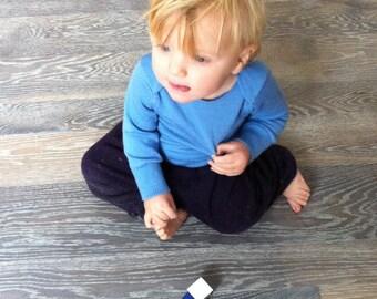 Baby Envelope Merino Wool Shirt Sweater - Custom MEADOWLARK  - Sizes 3 to 24 Months