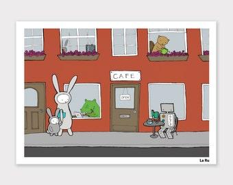 La Ru Cafe Print