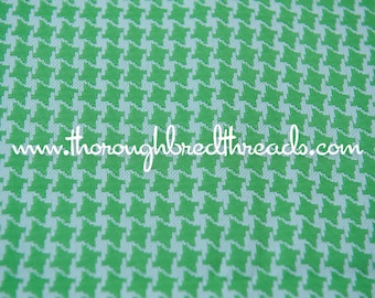 A Mod Classic - Vintage Fabric Lime Green Houndstooth New Old Stock