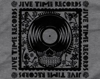 Day of the Record Skull T-Shirt - Dark Heather Grey