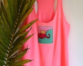 Racerback back hot pink beach top was 29.00 NOW 14.50