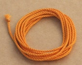 Orange handmade silk cord – 1 yard/1 metre