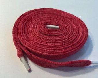 Hand Dyed Shoelaces (54 inch length) Strawberry Slush