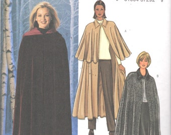 Butterick 4030 Misses Very Easy and Elegant Cape Pattern 3 Lengths Womens Sewing Pattern Size L 16 18 XL 20 - 22 Bust 38 - 44 UNCUT
