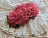 Vintage Lovely Fuchsia Millinery Cabbage Roses