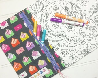 WEEKEND SALE - NEW - Color me wallet with washable markers - Color, wash, repeat  - Love notes