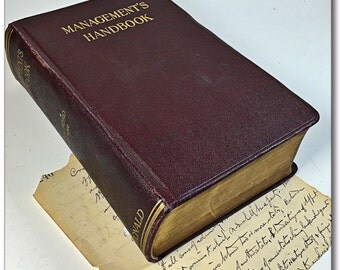 Vintage Management's Handbook Textbook Ronald business book industrial