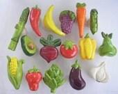 Vegetable Knobs, Fruit Knobs, Handmade Knobs, Drawer Pulls, Kitchen Cabinet Knob, Ceramic Knobs, Decorative Hardware,  Fruit and Vegetable