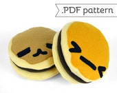 Dorayaki (Pancake Cookie) Plush .pdf Sewing Pattern