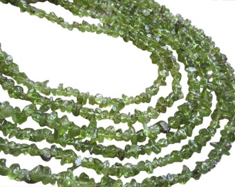 Peridot Beads, 4-5mm, Peridot Chips, SKU 2702A