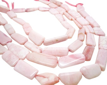 Pink Opal Beads, Pink Peruvian Opal, Pink Opal Nuggets, Smooth Nuggets, SKU 4175A