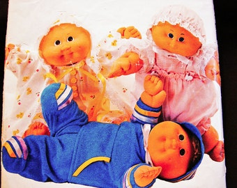 Cabbage Patch Doll Clothes Pattern Cabbage Patch Preemie Clothes Dress, Coat, Top, Pants, Bonnet, Panties Sewing Pattern