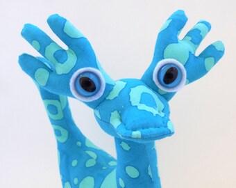 Cute Dragon Toy, Dragon Plush, Stuffed Animal Dragon Monster Toy by Adopt an Alien named Azul