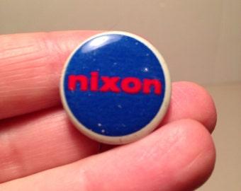 Vintage Nixon Button Pin Presidential Campaign Political Memoribilia 60's Richard Nixon