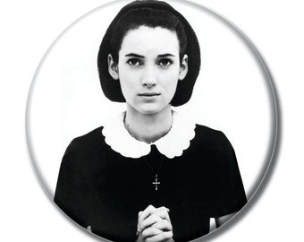Winona Ryder  1.75 inch pinback button Mermaids
