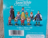 RESERVED for OLE 1993 Set of 9 Walt Disney's Snow White: 7 Dwarves, Wicked Queen, Prince, Collectible Figurines  Fantasy Romance Fairy Tale
