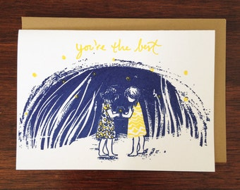 You're the Best - Catching Fireflies Card