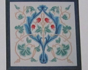 "William Morris ""Clanfield"" Counted Cross Stitch Chart - Arts & Crafts Movement"