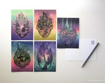Celestial Postcards - 5 Piece Set