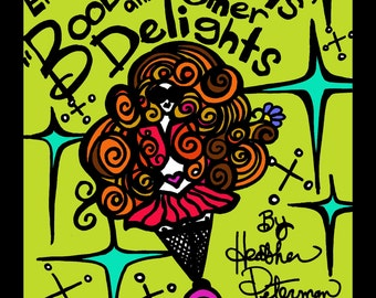 Boobie Girls and other Delights Adult Coloring Book Good Energy Art by Heather Peterman