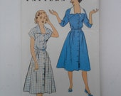 Vintage 50s Shirtwaist Dress Pattern New York 1266 Size 16 Bust 34 UNCUT