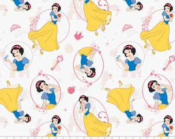 Disney Princess Snow White Camelot Cotton Woven BTY