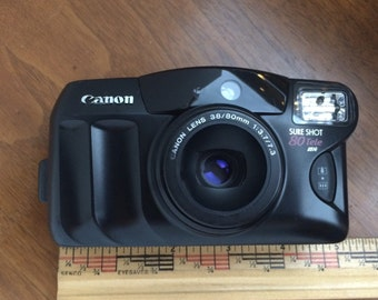 CanonSure Shot 80 Tele 35mm film Point and Shoot camera