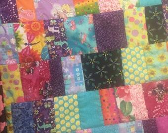 Fun cotton patchwork girls quilt