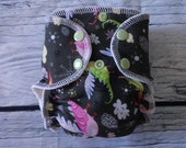Newborn Fitted Cloth Diaper in Dragons by Soothe Baby