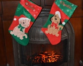 YEAR END SALE Monogrammed  Christmas Stockings for Cats and Dogs  Pet stockings
