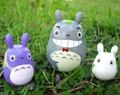 Customize Set of 3 TOTORO DOLL Studio Ghibli mini figure model toy 2
