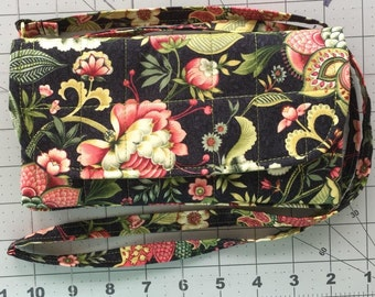 Black with Flowers Wallet
