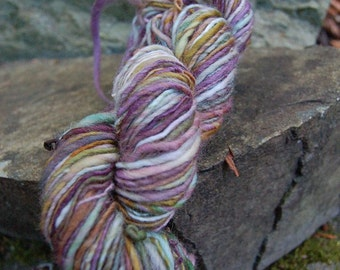 Handspun yarn, handpainted wool yarn,  wool worsted weight  multiple skeins available, Titania