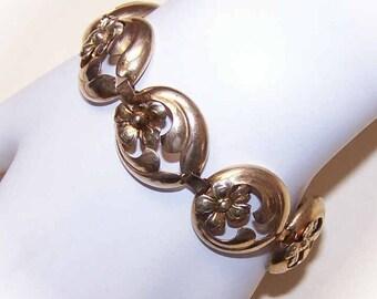 Vintage Bracelet,STERLING SILVER,Sterling Bracelet,Silver Bracelet,Vermeil,Gold Filled,Link Bracelet,Vermeil Bracelet,Sterling Link Bracelet
