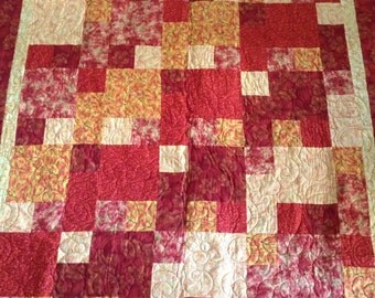 Gold, red, orange quilt