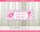 Princess Return Address Labels : Printable Princess Return Address Sticker - Matching Personalized Princess Party Labels - BD137