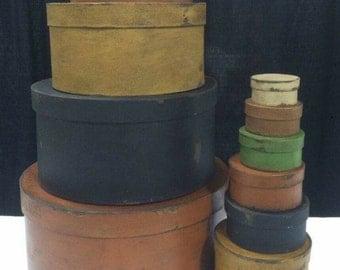 Paper Mache Shaker Box Set of 10