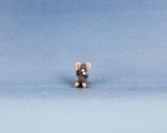 Miniature Handmade Mouse,Mice, Dollhouse Baby Nursery Toy, Ooak, Artist Doll, Cheryl Brown