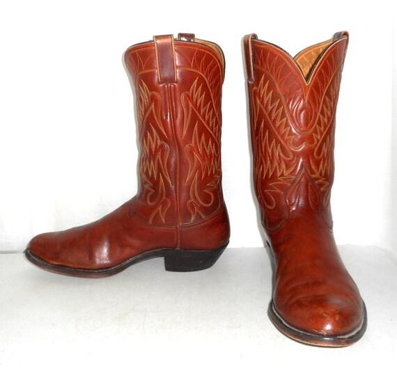 mens 12 d cowboy boots custom made blucher by