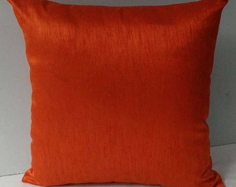 dark orange art silk pillow cover 18 inch throw pillow  on  discount  price  on  sale  for set of 2 pcs  on offer.