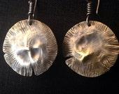Small Brass Disk Earrings