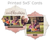 """25 Die-Cut Holiday and Christmas Cards • """"Mistletoe"""" • Professionally Printed on Card Stock • Envelopes Included"""