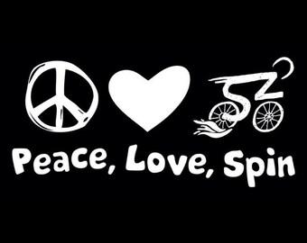 Peace Love Spin Tee