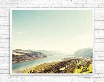BUY 2 GET 1 FREE Oregon Photography Art, Adventure Photography, Oregon Print, Wall Decor, View From The Top, Green, Blue, Lookout Photo