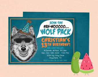 Wolf Invitation | Wolf Pack Birthday | Wolf Birthday Party | Wolves | Leader of the Pack | Howler Birthday Party | Howling
