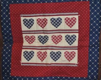 Beautiful 12 Heart Wall Quilt