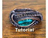 Wire Weaving TUTORIAL, Wire Wrapping Tutorial, Dragon's Eye Ring Tutorial, Dragon Ring Tutorial, Eye Ring Tutorial, Wire Wrap Ring Tutorial