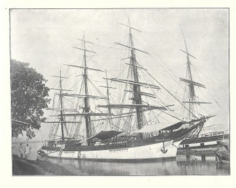 Print of the Sailing Ship Augusta, built in 1868