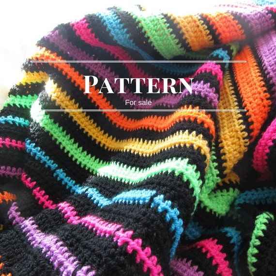 Easy Crochet Striped Afghan Patterns : Striped afghan pattern Easy crochet blanket pattern