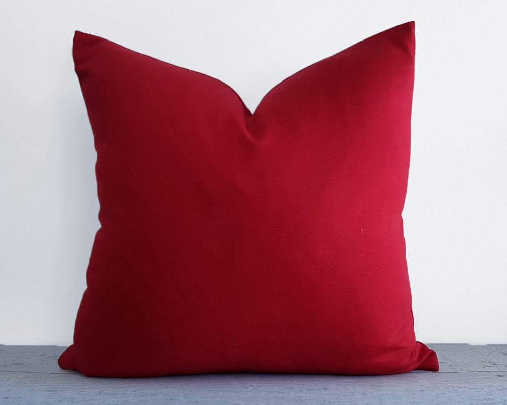 Modern Red Decorative Pillows : Solid Red Pillow Covers Red Throw Pillows Red Decorative